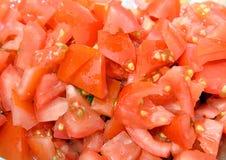 Geschnittener Tomatehintergrund Lizenzfreie Stockfotografie