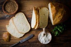 Geschnittenes Brot Lizenzfreie Stockbilder