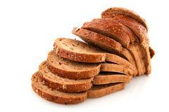 Geschnittenes Brot der vollständigen Mahlzeit Stockbilder