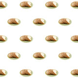 Geschnittenes Brot des indischen Sesams auf weißem Hintergrund lizenzfreies stockbild