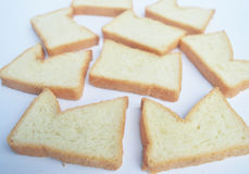 Geschnittenes Brot getrennt stockfoto