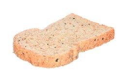 Geschnittenes Brot getrennt auf Weiß Lizenzfreie Stockfotos