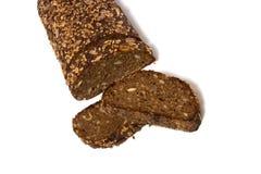 Geschnittenes Brot getrennt auf Weiß Lizenzfreies Stockbild
