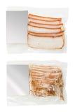Geschnittenes Fett verpackt lizenzfreie stockfotos