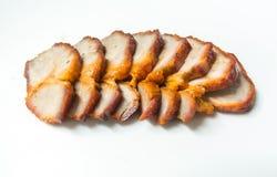 Geschnittenes gebratenes Schweinefleisch Stockfoto