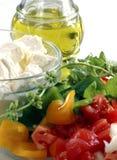 Geschnittenes Gemüse für Salat Stockfotos