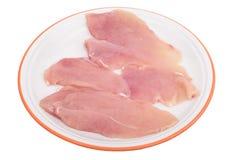 Geschnittenes Huhnfleisch Stockfotografie