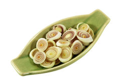 Geschnittenes Lemongras stockfoto