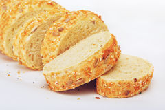 Geschnittenes Mais-Brot Stockbild