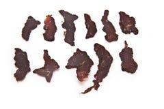 Geschnittenes Trockenfleisch vom Rind   Lizenzfreie Stockbilder