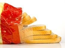 Geschnittenes weißes Brot Lizenzfreie Stockbilder