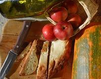 Geschnittenes Weizenbrot Stockbild