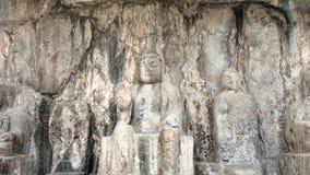 Geschnitzte Buddha-Zahl in Longmen-Grotten Stockbild