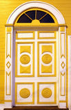 Geschnitzte bunte Türen Stockbilder