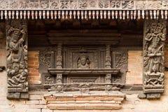 Geschnitzte Details des hinduistischen Tempels Lizenzfreies Stockfoto