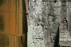 Geschnitzte devatas Stockbilder
