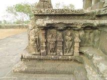 Geschnitzte Götter im Stein, Udaipur, Rajastan Stockbild