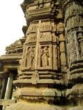 Geschnitzte Götter im Stein, Udaipur, Rajastan Stockfotografie
