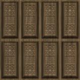 Geschnitzte hölzerne Panels Stockfoto