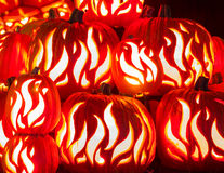 Geschnitzte Halloween-Kürbise Stockbild