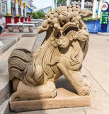 Geschnitzte Löwen Lizenzfreies Stockbild