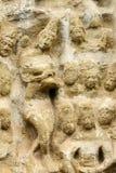 Geschnitzte Skulptur in Kailasanath-Tempel ist der älteste Tempel von K Lizenzfreies Stockfoto