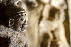 Geschnitzte Skulptur in Kailasanath-Tempel ist der älteste Tempel von K Lizenzfreie Stockfotos