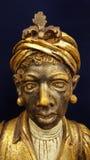 Geschnitzte Statue stockbilder