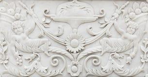 Geschnitzte Steindekoration stockfotos