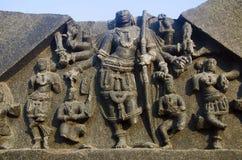 Geschnitzte Zahl, Tempelkomplex, Warangal-Fort, Warangal, Telangana-Staat von Indien stockfotos