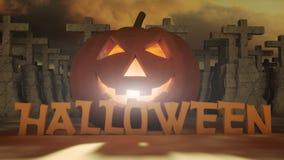 Geschnitzter Halloween-Kürbis Lizenzfreies Stockfoto