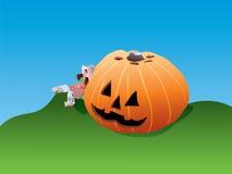 Geschnitzter Halloween-Kürbis Lizenzfreie Abbildung