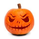 Geschnitzter Halloween-Kürbis Stockbilder