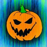 Geschnitzter Halloween-Kürbis Stockbild