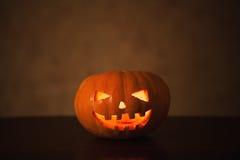 Geschnitzter Halloween-Kürbis Lizenzfreie Stockfotografie