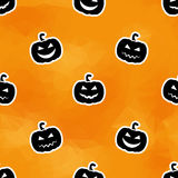 Geschnitzter Halloween-Kürbis Nahtloses Muster Polygonorangenhintergrund Lizenzfreie Stockbilder