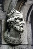 Geschnitzter König Stockfotos