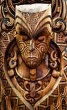 Geschnitzter Maori- Vorstand Stockfotos