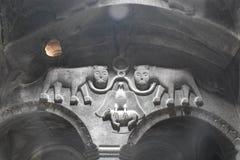 Geschnitztes Detail-Höhlen-Kloster von Geghard Stockfotografie