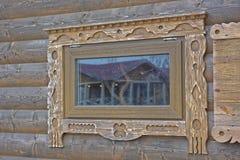 Geschnitztes Fenster Lizenzfreie Stockfotos