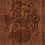 Geschnitztes hölzernes keltisches Symbol Lizenzfreie Stockfotos