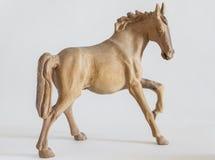Geschnitztes hölzernes Pferd Stockfotos