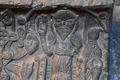 Geschnitztes Ikone Savanavank-Kloster, Armenien Stockfotografie
