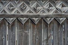 Geschnitztes ungarisches Motiv auf dem Zaun lizenzfreies stockfoto