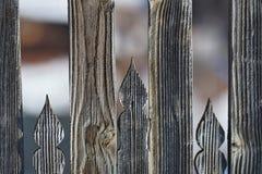 Geschnitztes ungarisches Motiv auf dem Zaun 2 stockfotos