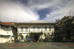 Geschoß Altbau der Schule zwei nahe Talad Noi, Bangkok, Thailand Stockbilder