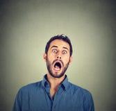 Geschokte doen schrikken mens Stock Foto