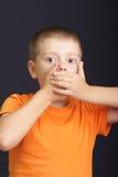 Geschokte jongen Stock Foto's