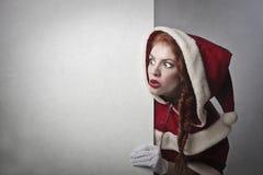 Geschokte Santa Claus stock foto