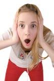 Geschokte vrouwelijke tiener Stock Fotografie
